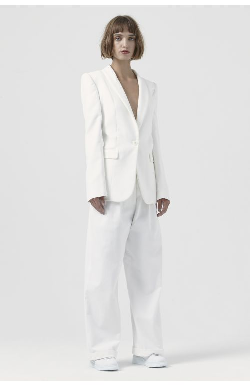Sofia White Organic Cotton Blazer