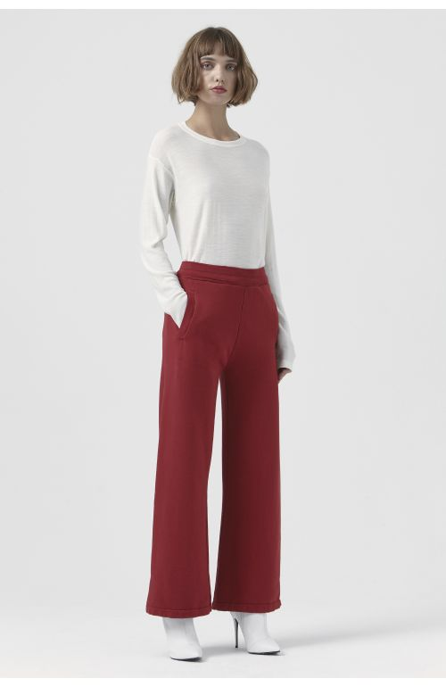 Vale Red Organic Cotton Trackpant