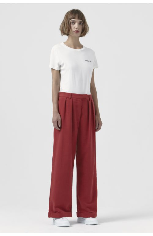Camilla Red Organic Cotton Trousers