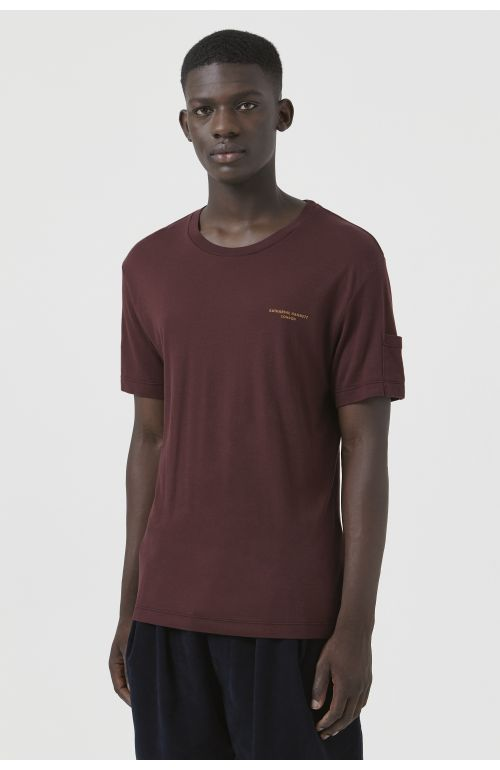 Ivan Burgundy Organic Cotton Logo T-Shirt