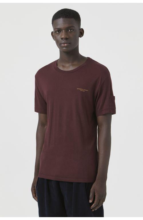 Ivan Burgundy Organic Cotton Logo T-Shirt