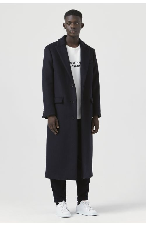 Darwall Navy Recycled Wool Coat