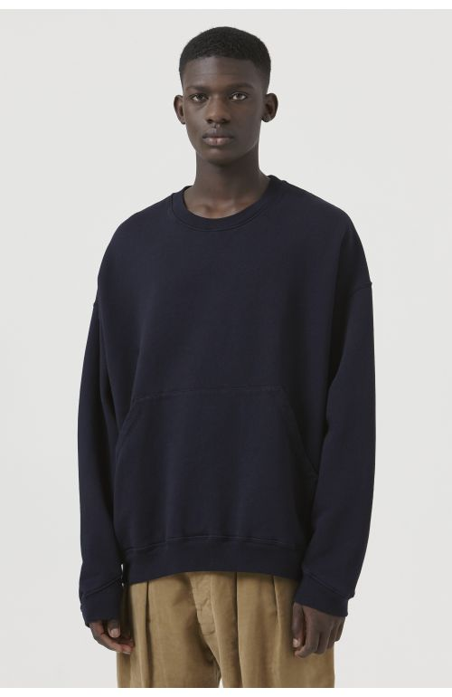 Joey Navy Organic Cotton Sweatshirt