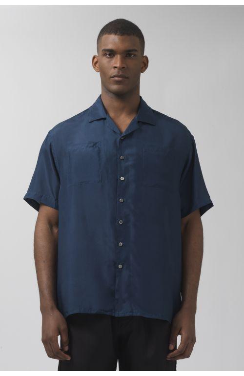 Beach teal silk shirt