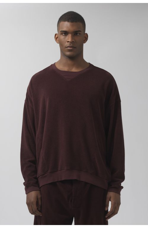 Vince warm brown French Terry sweater