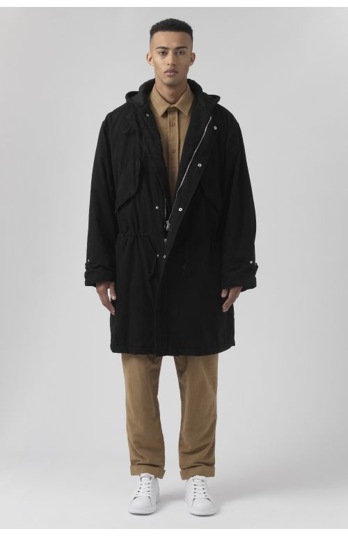 Will Black Organic Cotton Parka