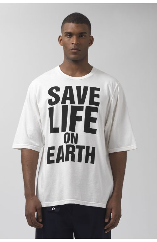 SAVE LIFE ON EARTH OVERSIZED ORGANIC COTTON T-SHIRT