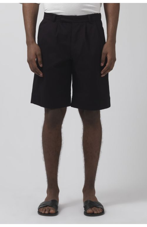 Army black organic cotton shorts