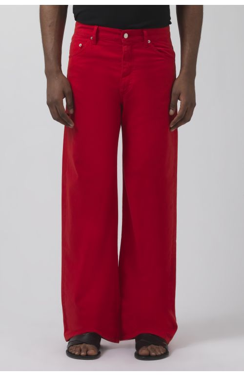 TERRY RED DRILL TROUSERS