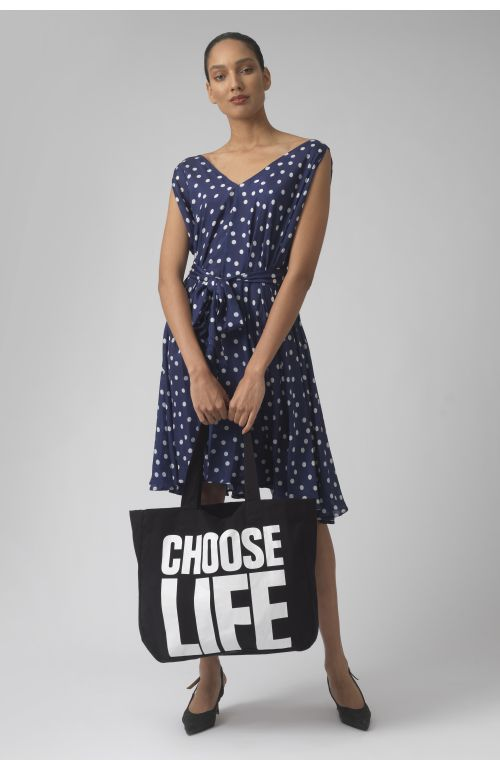 CHOOSE LIFE BLACK Organic cotton bag