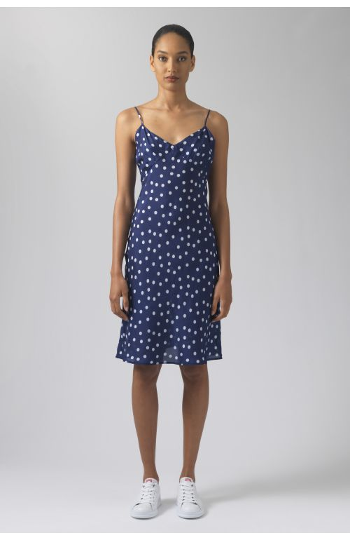 Betta polka dots silk dress
