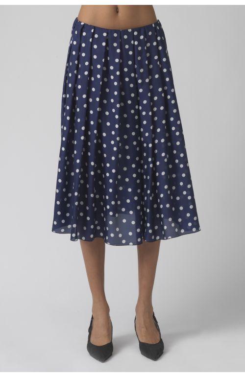 Antonella polka dots silk skirt