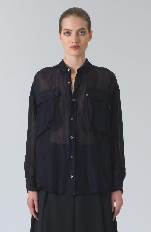 Alex Black Chiffon Shirt