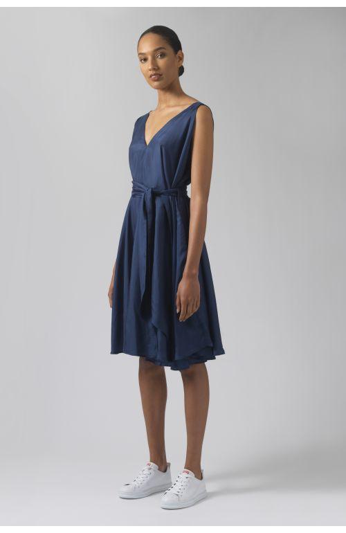 Dorina teal silk dress