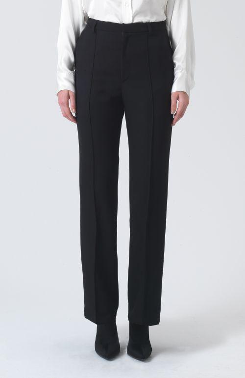 Dina Black Wool Trousers