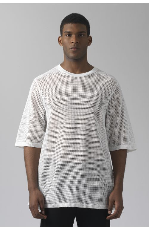 Ivanoe white mesh t-shirt