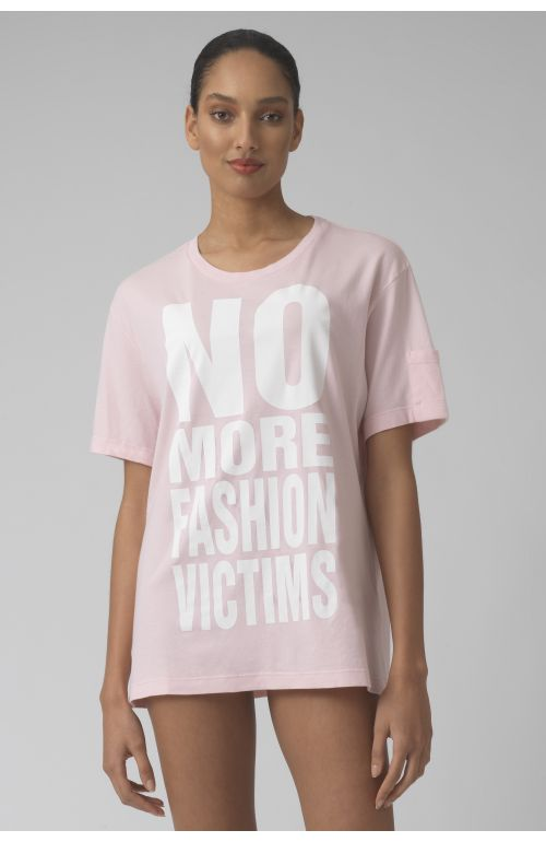 NO MORE FASHION VICTIMS AZALEA Organic cotton t-shirt