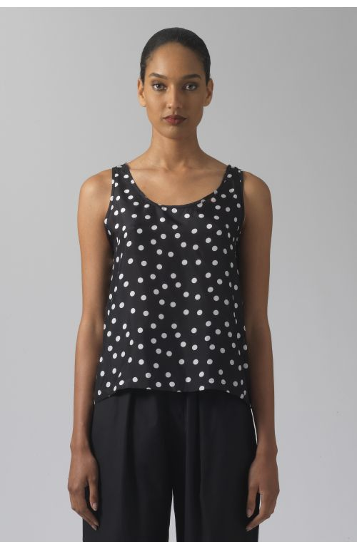 Sadie polka dots silk top