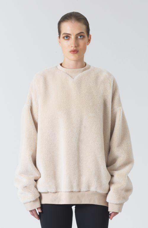 Claudia oat Alpaca Sweatshirt