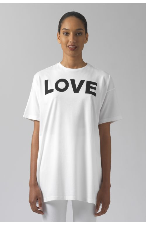 LOVE WHITE ORGANIC COTTON T-SHIRT
