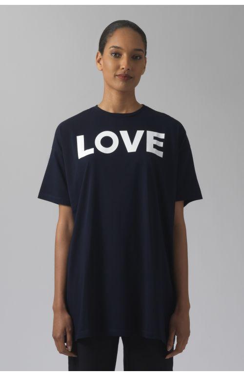 LOVE NAVY ORGANIC COTTON T-SHIRT