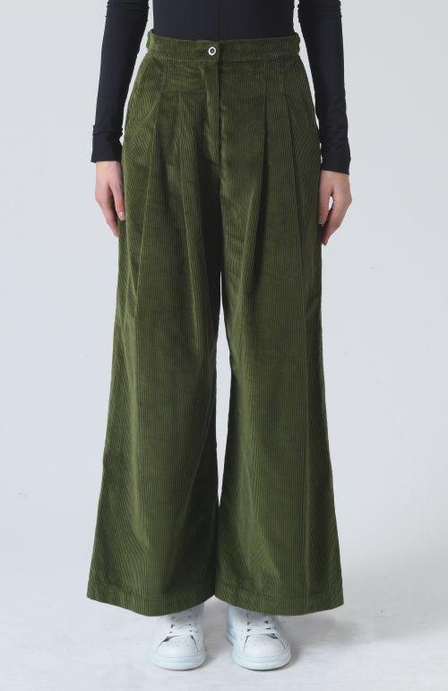 Ella Khaki Organic Cotton Trousers
