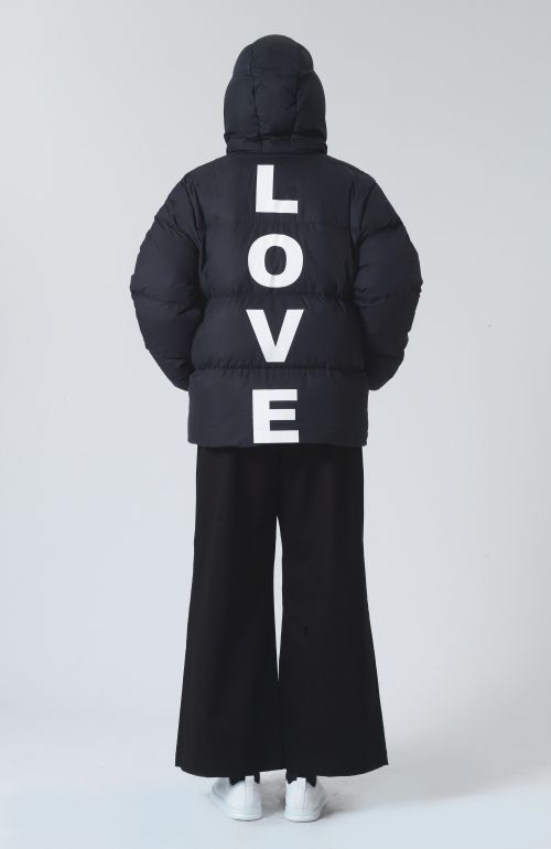 Alistair Navy Recycled Polyester and Down Love Puffer Jacket