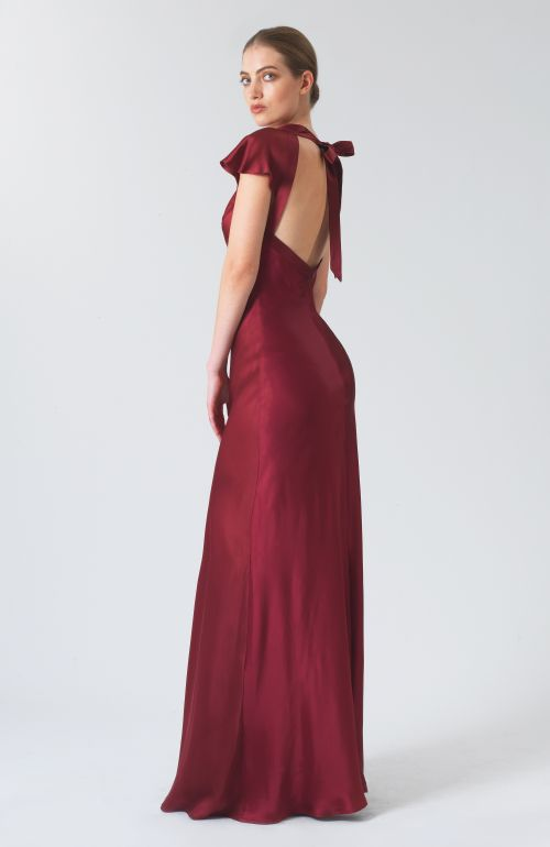 Lake Claret Silk Dress