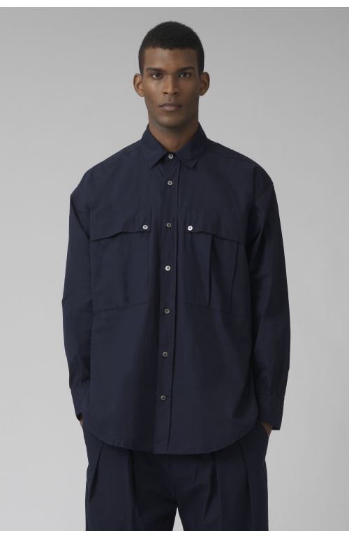 Alex navy organic cotton shirt