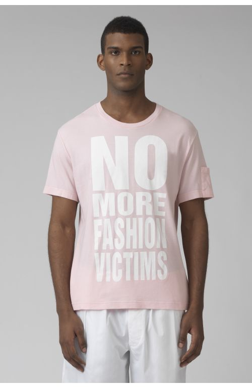 NO MORE FASHION VICTIMS organic cotton azalea t-shirt