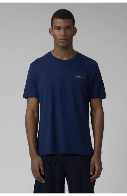 Ivan deep blue organic cotton t-shirt