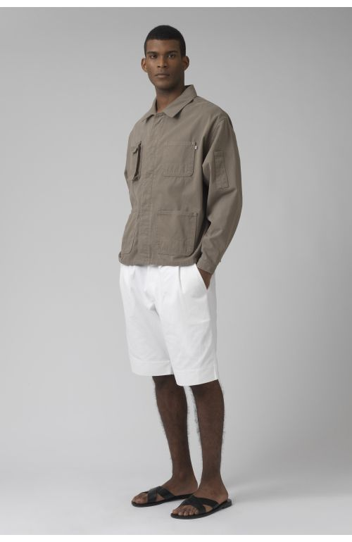 Patrick khaki organic cotton jacket