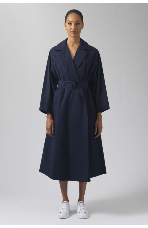 Lola navy organic cotton coat