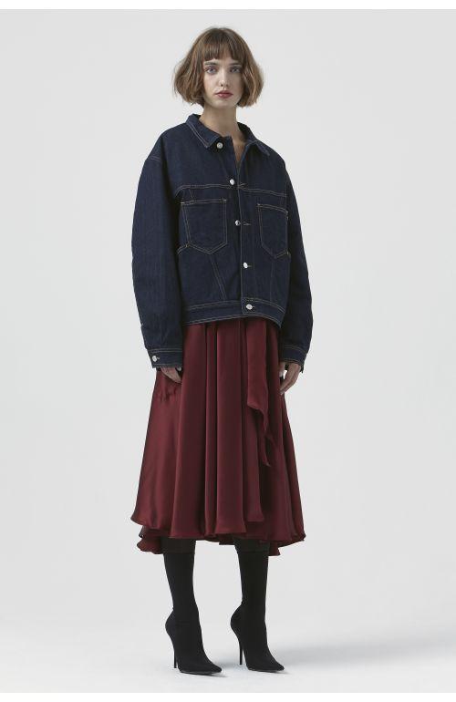 Coco Silk Padded Denim Jacket