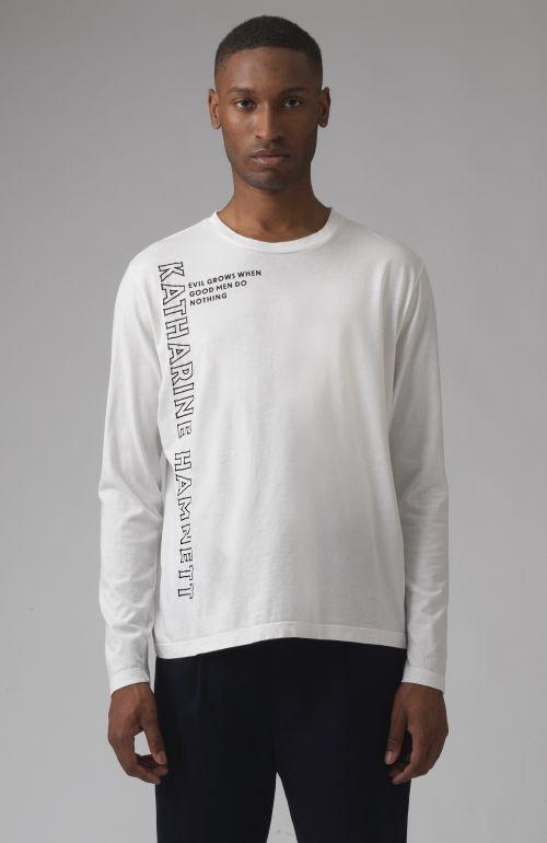 Robbie Quote white organic cotton T-shirt