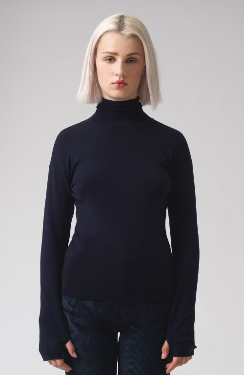 Myrtle Navy Merino and Wool Jumper