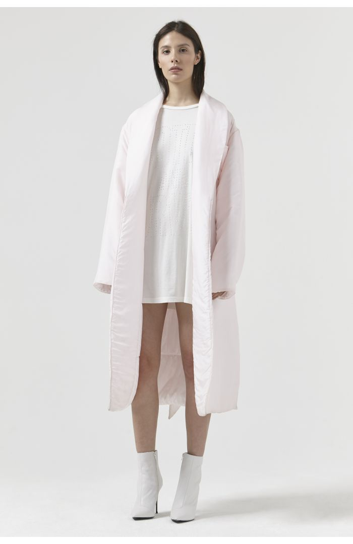 Charlie Pink Silk Dressing Gown