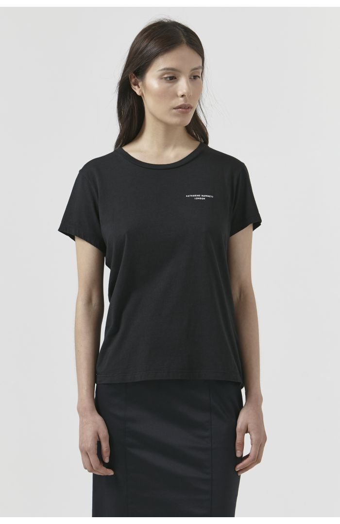 Katie Black Organic Cotton T-Shirt