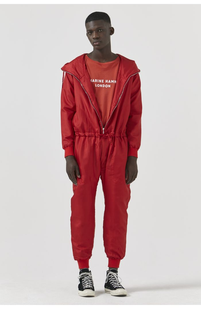 Redford Red Silk Onesie