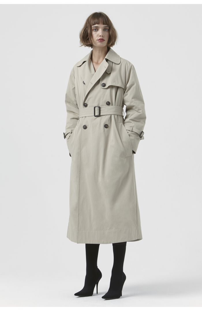 Ann Sand Organic Cotton Trench Coat