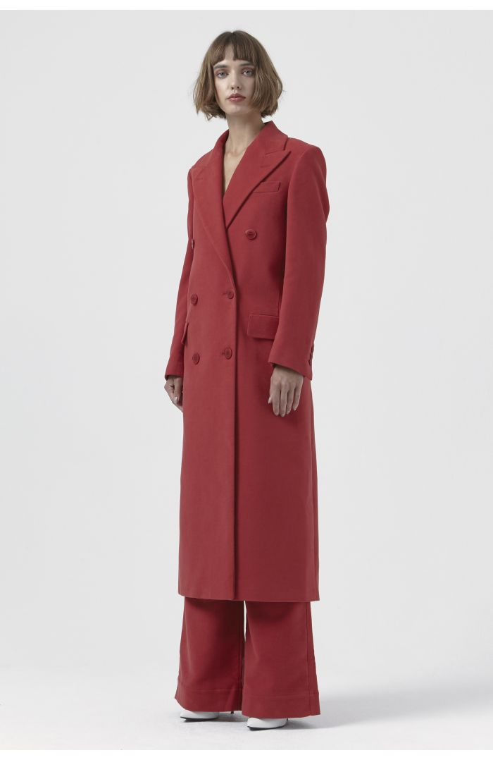 Simona Red Organic Cotton Coat