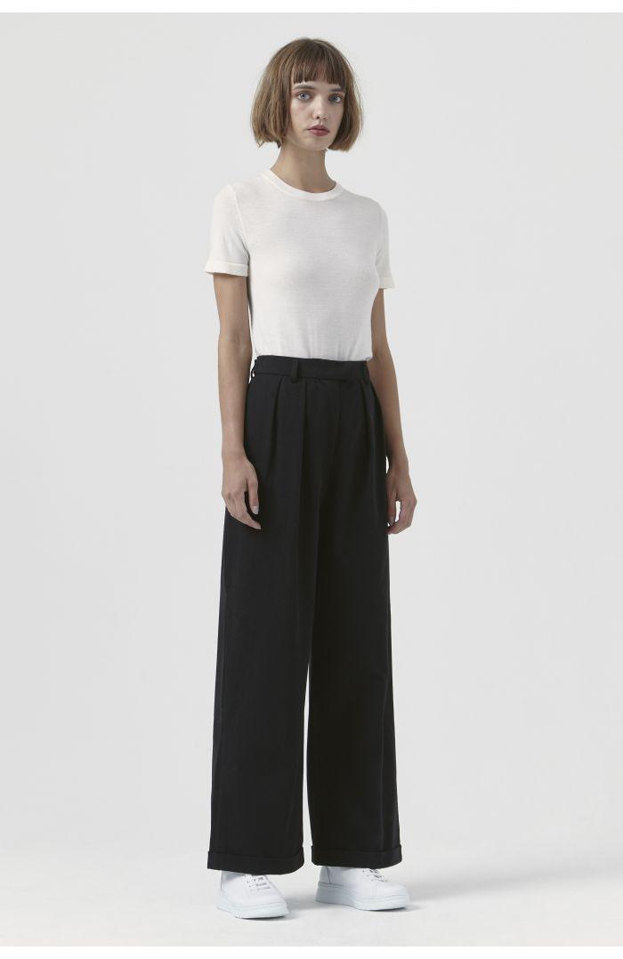 Camilla Black Organic Cotton Trousers
