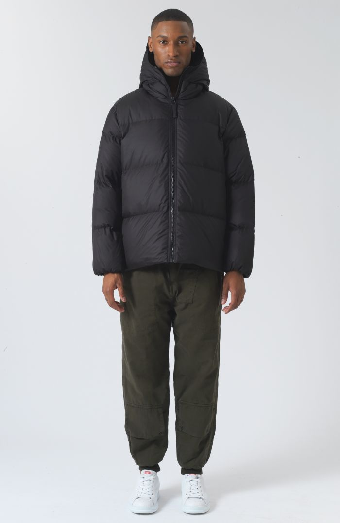 Alistair Recycled Down Black Puffer Jacket