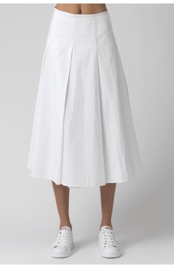 Rose white organic cotton skirt