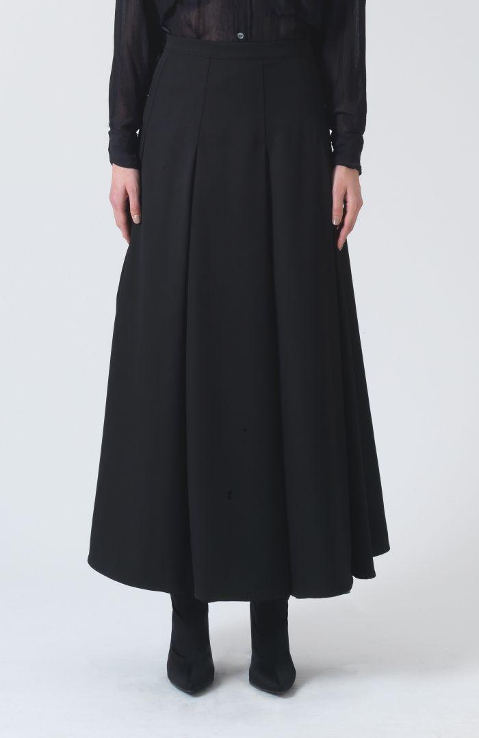 Rose Black Wool Skirt