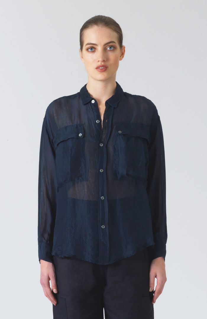 Alex Green Chiffon Shirt