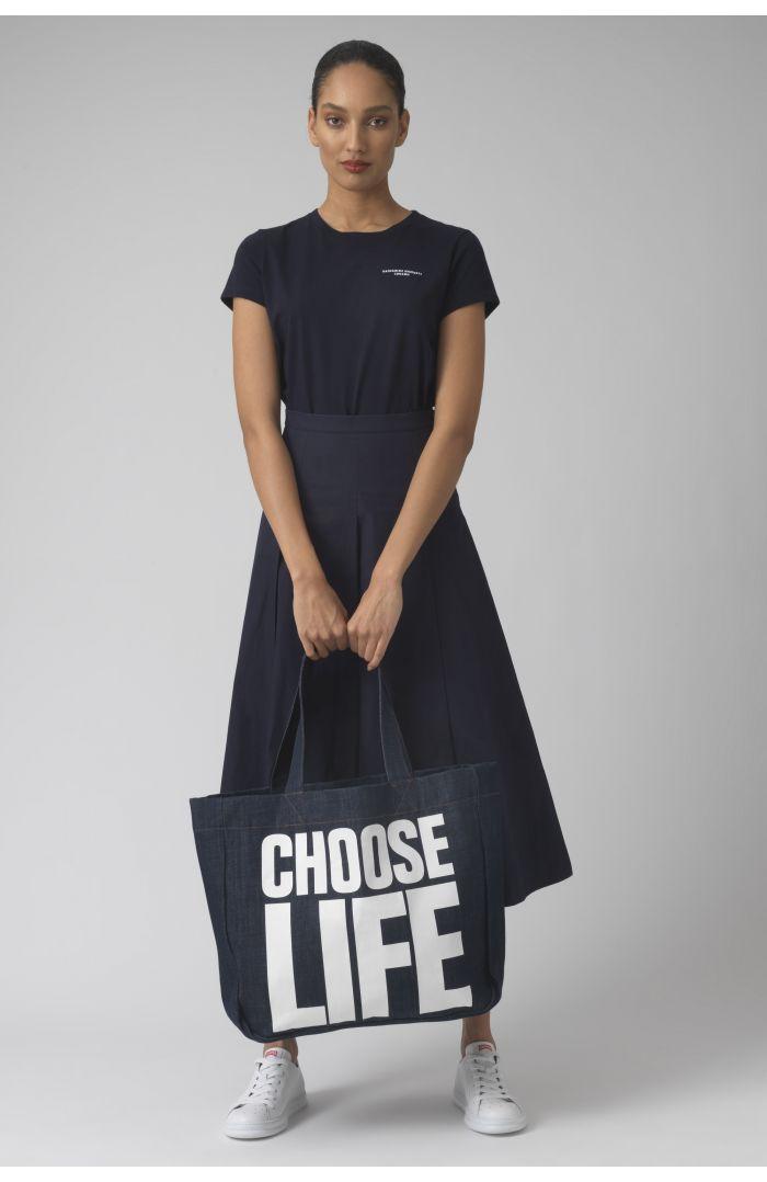 CHOOSE LIFE rinse wash Organic cotton bag