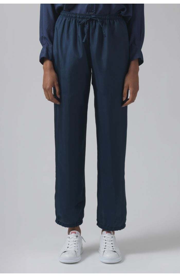 Lucia teal silk trousers