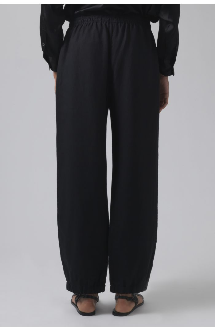 Lucia black linen trousers