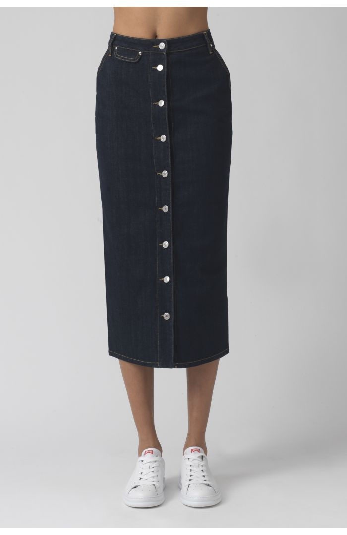 Janice Dark Organic Cotton Skirt